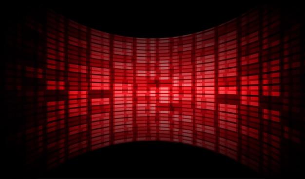 Tela de cinema azul led vermelho para apresentação de filme. Vetor Premium