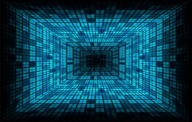 Tela de cinema led azul para apresentação de filmes. fundo de luz tecnologia abstrata Vetor Premium