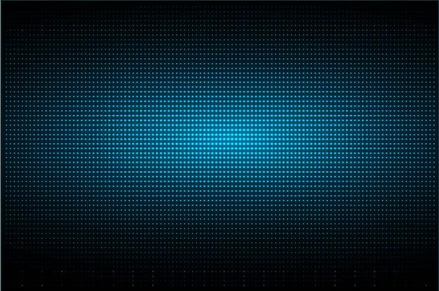 Tela de cinema led azul Vetor Premium