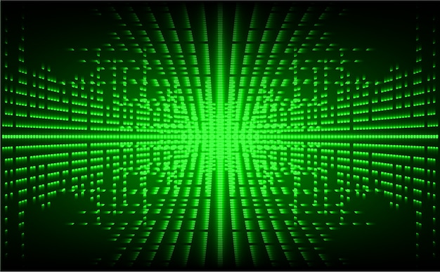 Tela de cinema led verde. fundo de luz tecnologia abstrata Vetor Premium