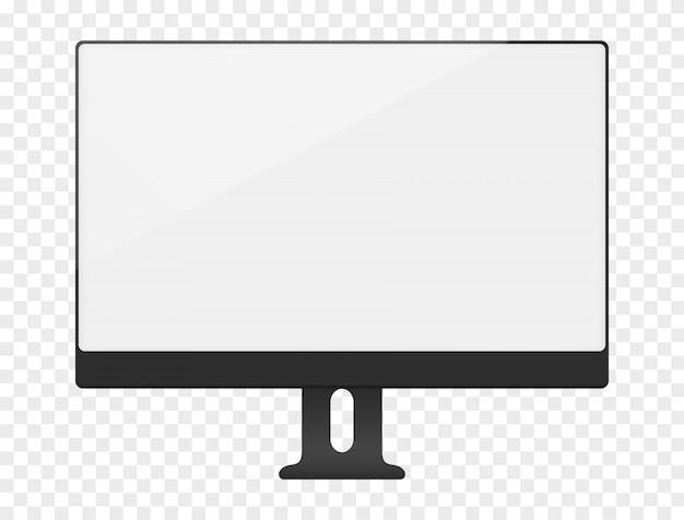 Tela de computador branco em branco Vetor Premium