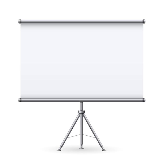 Tela de projeção reunião vazia, apresentação. Vetor Premium