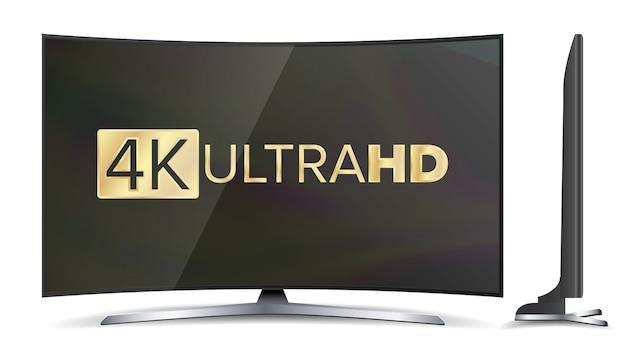 Tela de tv 4k Vetor Premium