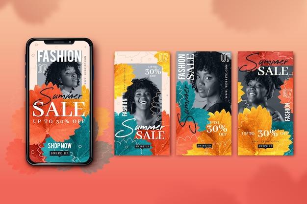 Telas de smartphone de venda de moda Vetor grátis