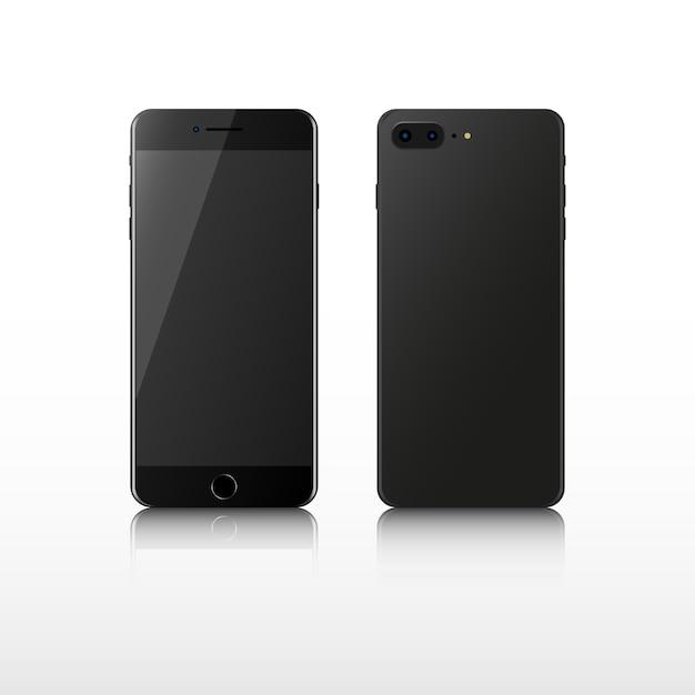 Telefone inteligente realista. Vetor Premium