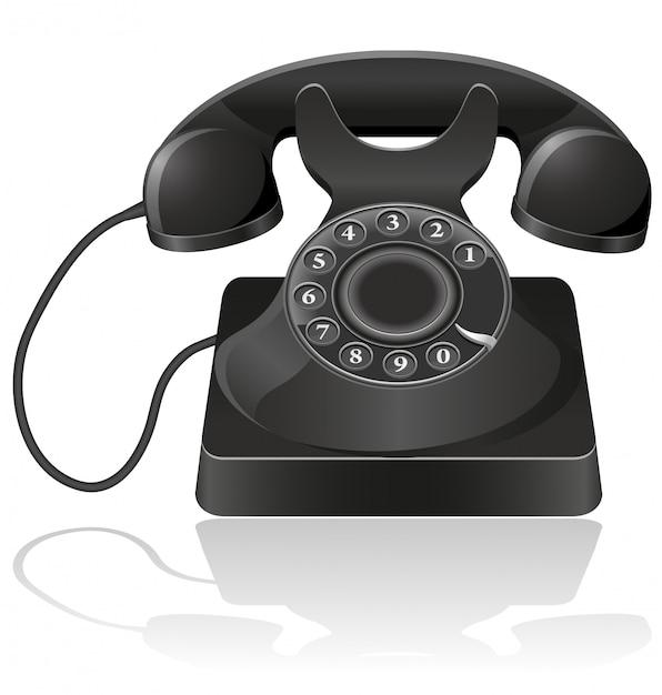 Telefone velho. Vetor Premium
