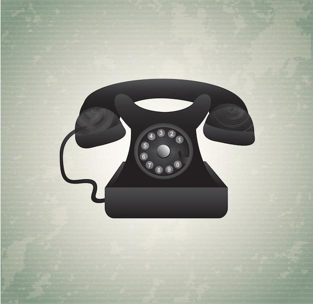 Telefone velho Vetor Premium