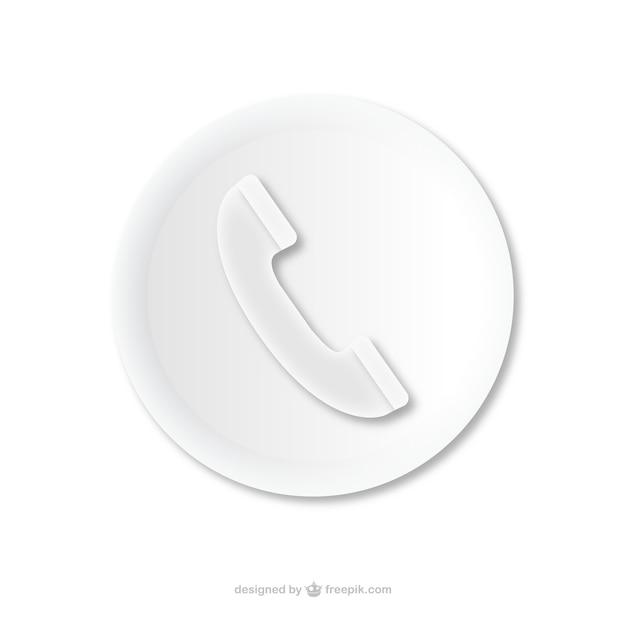Telefonema ícone em relevo Vetor grátis