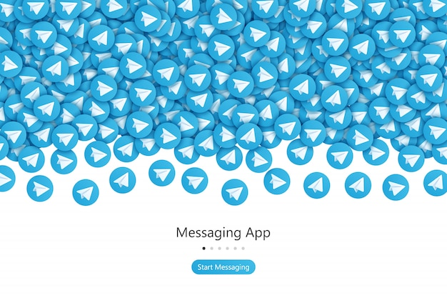 Telegrama start screen ui design concept vetor abstrato Vetor Premium