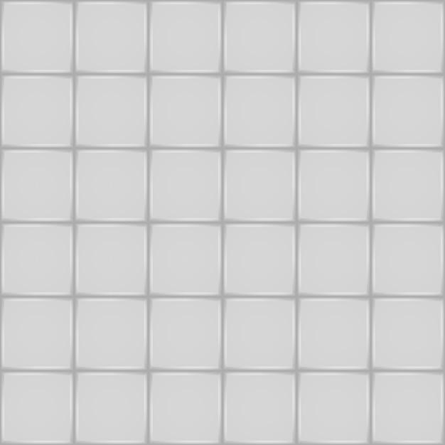 Telha cerâmica branca. parede de banheiro ou piso sem costura padrão Vetor Premium
