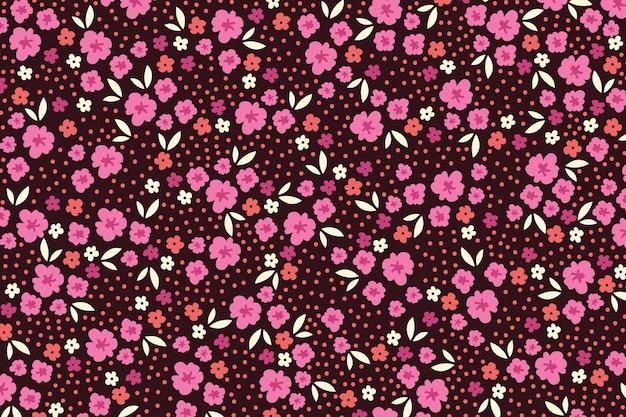 Tema colorido servindo de papel de parede de impressão floral Vetor grátis