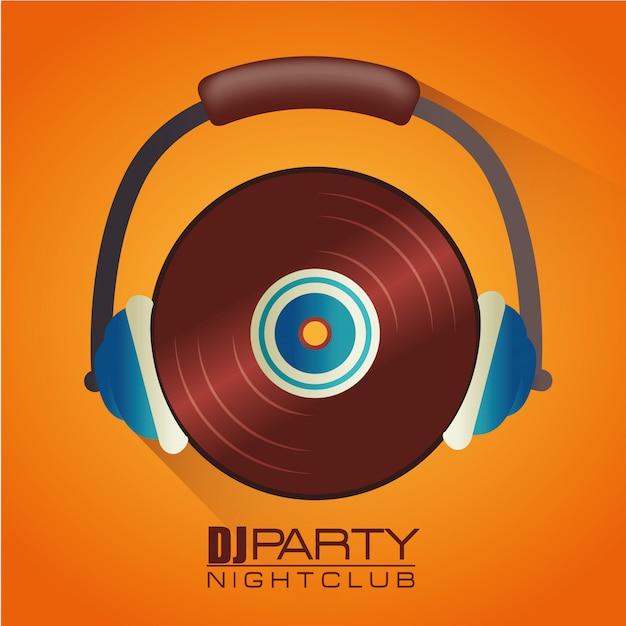 Tema da festa dj música Vetor Premium