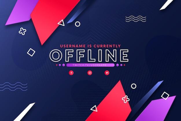 Tema de banner de contração offline Vetor Premium