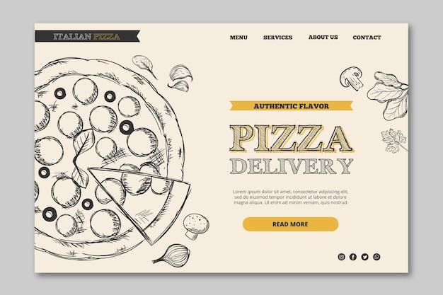 Tema de banner de modelo de restaurante italiano Vetor grátis