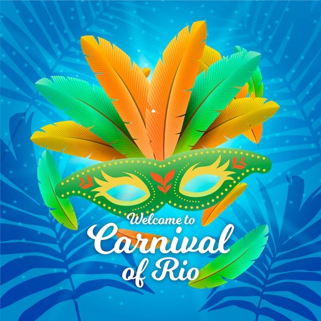 Tema de carnaval brasileiro realista Vetor grátis