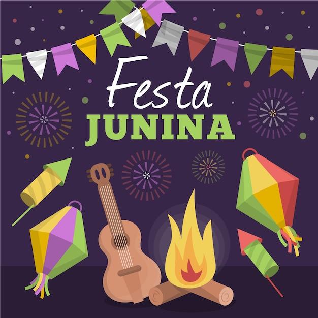 Tema de celebração festa junina Vetor grátis
