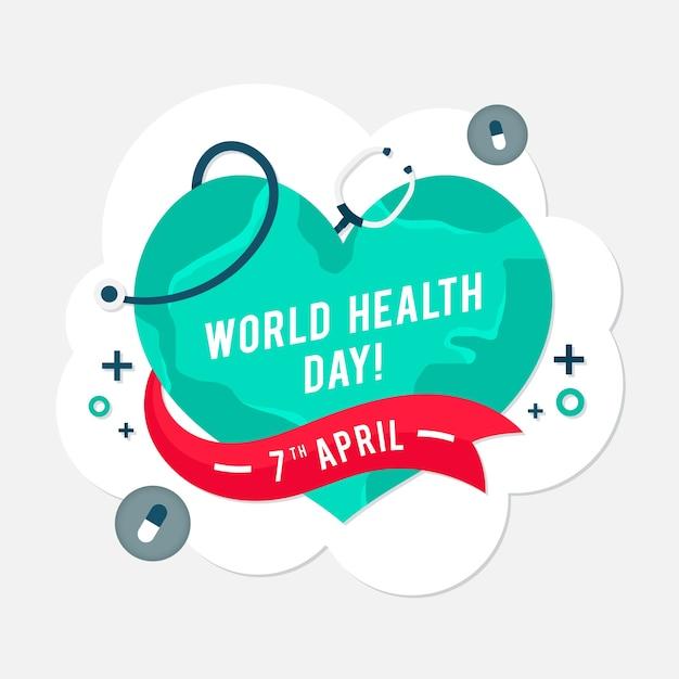 Tema de comemoração do dia mundial da saúde Vetor grátis
