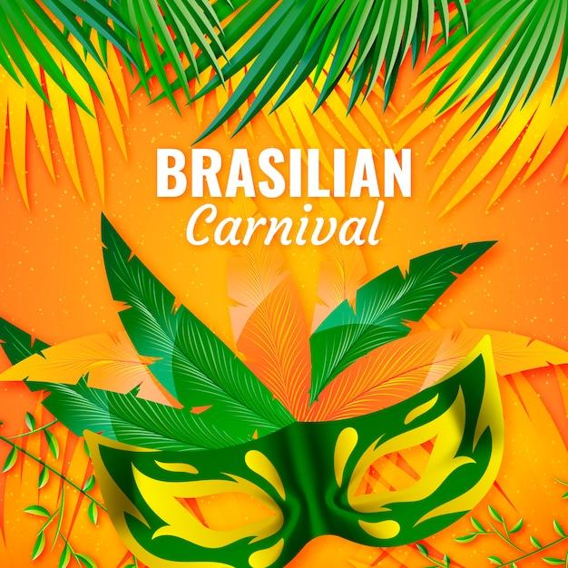 Tema de evento de carnaval brasileiro realista Vetor grátis