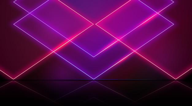 Tema de fundo de luzes geométricas de néon Vetor grátis