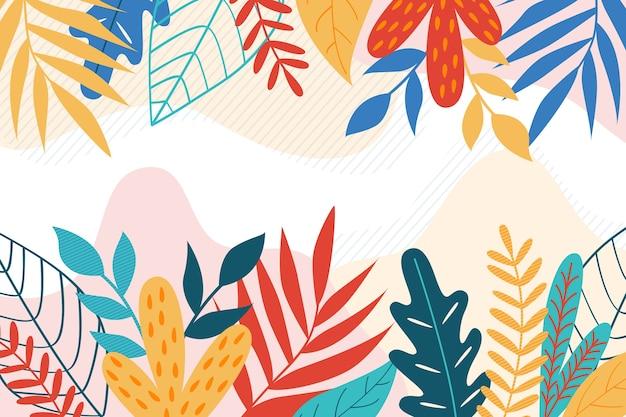 Tema de fundo floral abstrato design plano Vetor grátis