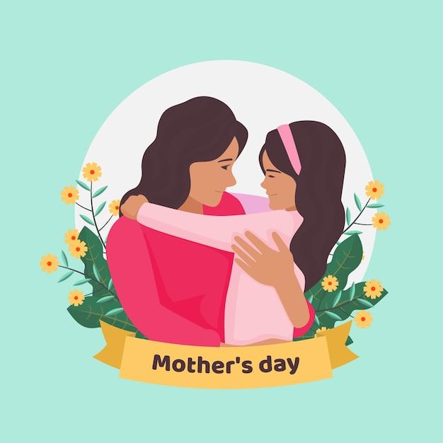 Tema de ilustração de dia das mães Vetor grátis