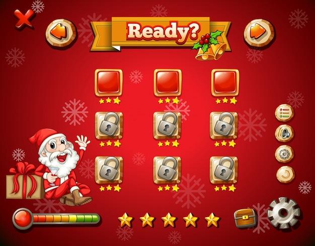 Tema de natal no jogo de computador Vetor Premium