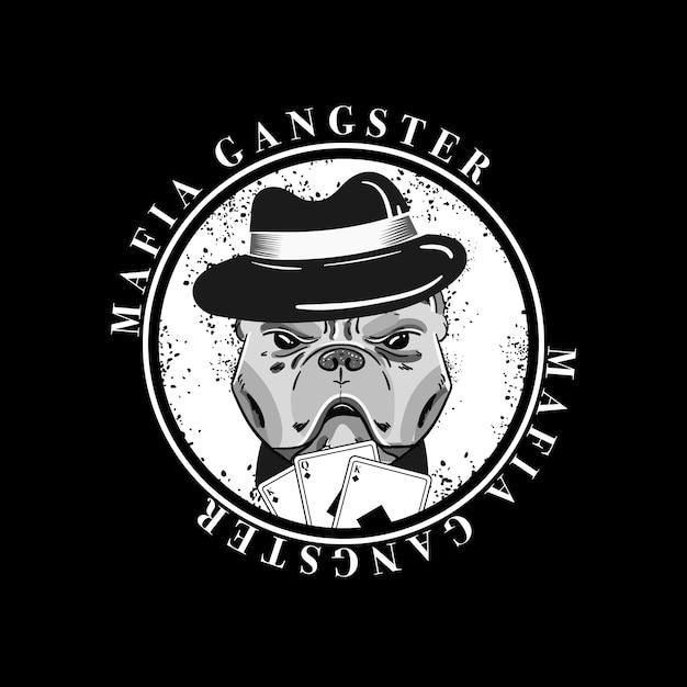 Tema de personagem retrô gangster Vetor grátis
