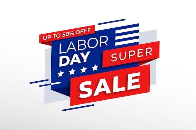 Tema de venda do dia do trabalho Vetor Premium