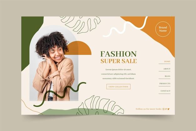 Tema de webtemplate de venda de moda Vetor grátis