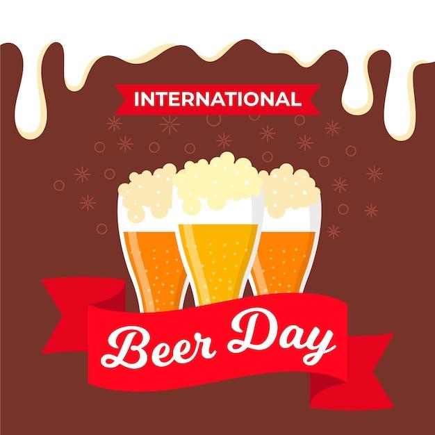 Tema do dia internacional da cerveja Vetor grátis