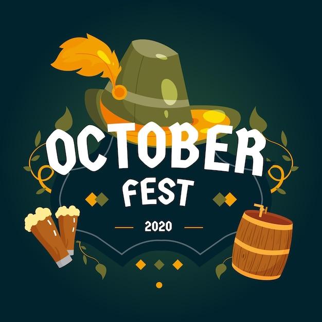 Tema do evento da oktoberfest Vetor grátis