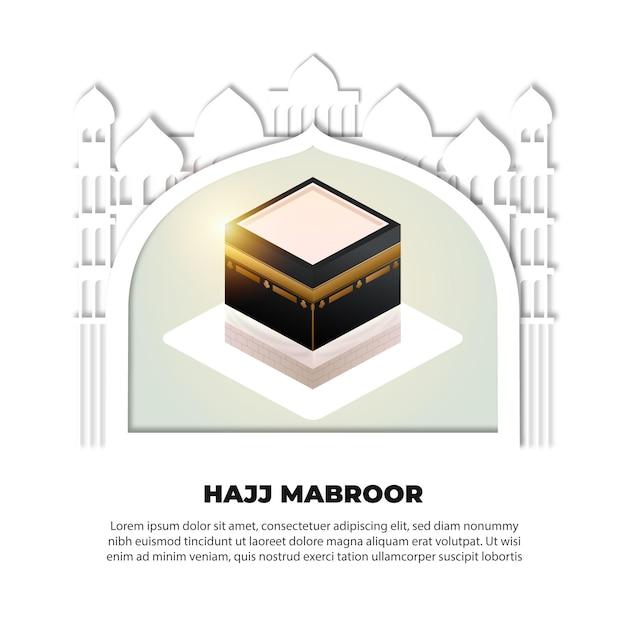 Tema do evento de peregrinação islâmica Vetor grátis