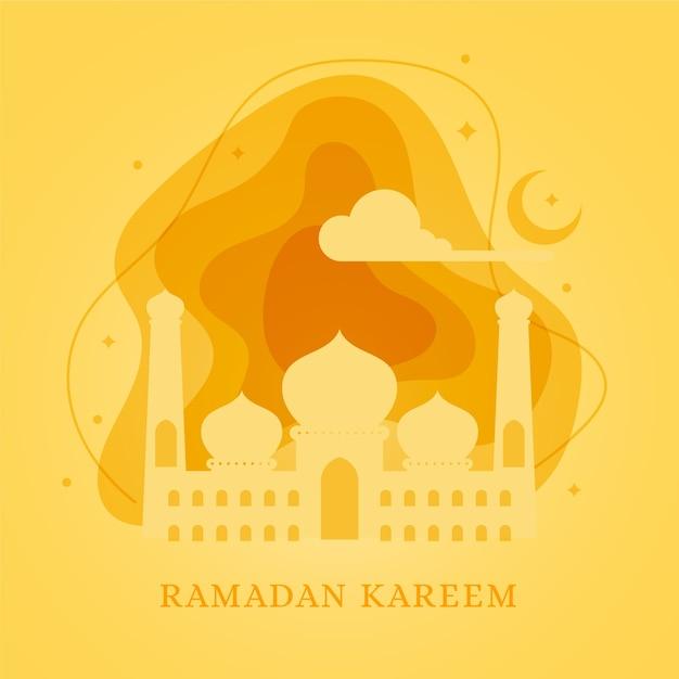 Tema do evento do ramadã design plano Vetor grátis