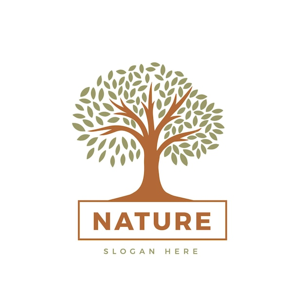 Tema do logotipo da tree life Vetor Premium