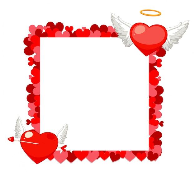 Tema dos namorados com design de moldura de coração Vetor grátis