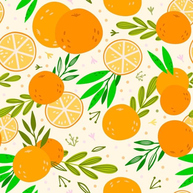 Tema padrão de frutas Vetor Premium