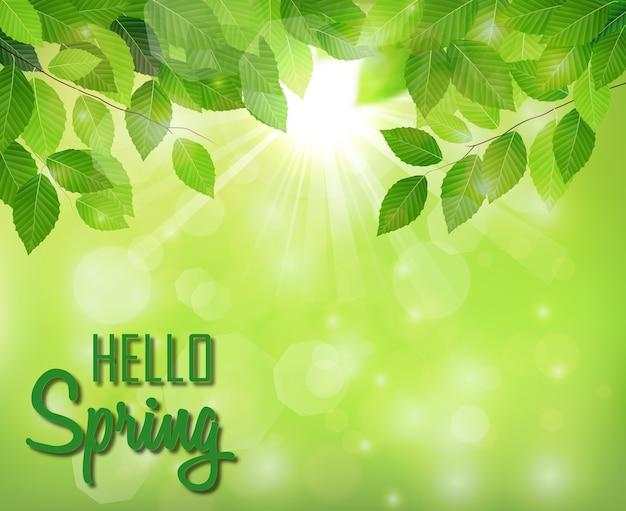 Tema primavera Vetor Premium