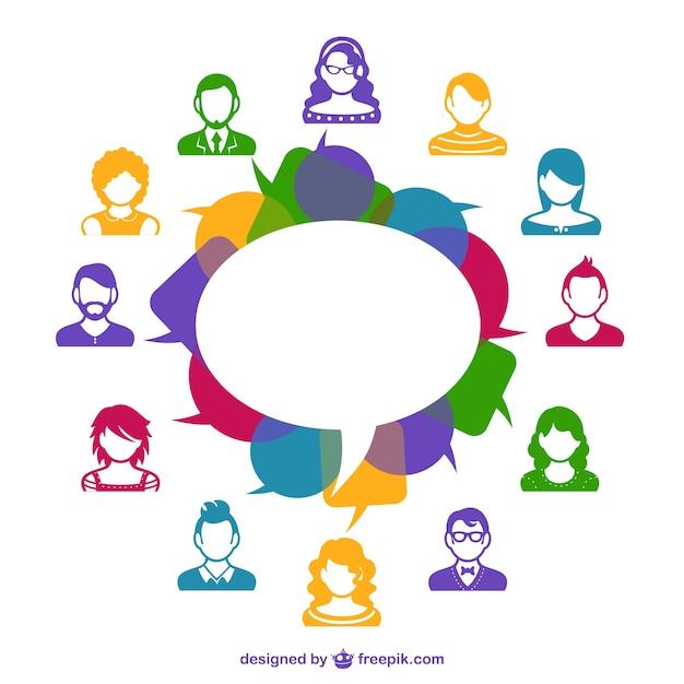 Template avatares de mídia social Vetor grátis