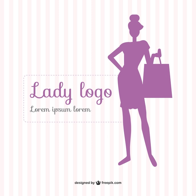 Template dama da moda Vetor grátis