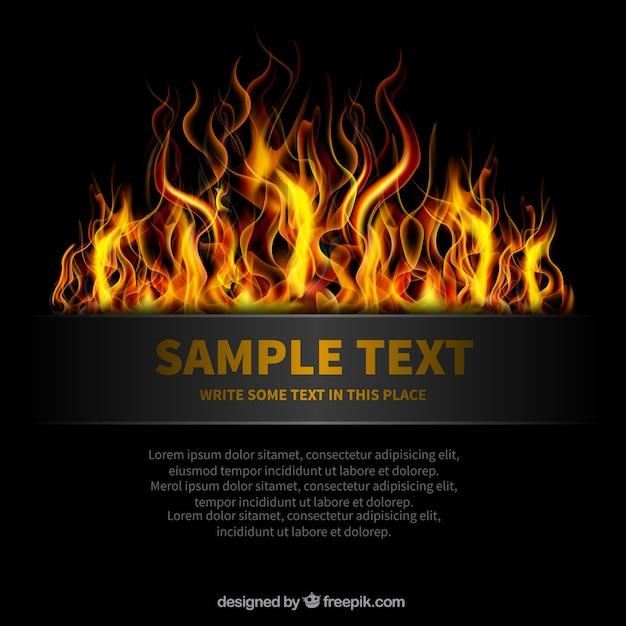 Template em chamas Vetor Premium