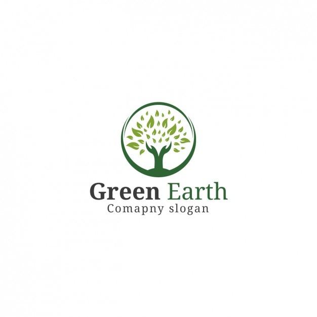 Template Logo Árvore Vetor grátis