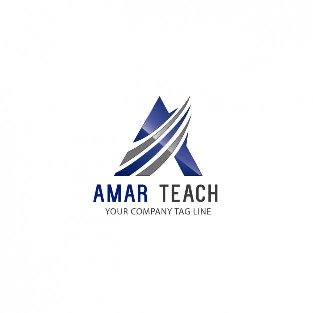 Template logo triangular Vetor grátis