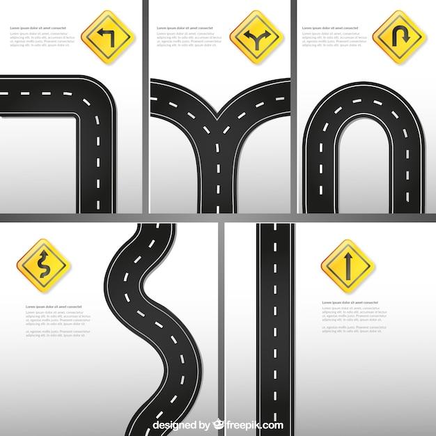 Template sinais de trânsito Vetor grátis