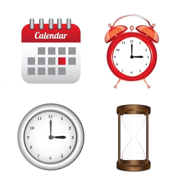 Tempo de design Vetor Premium