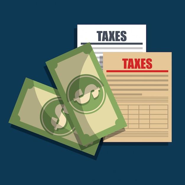 Tempo de imposto Vetor grátis