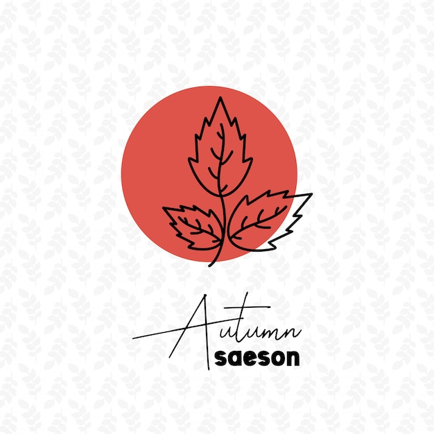 Temporada de outono com vetor de design de plano de fundo padrão Vetor grátis