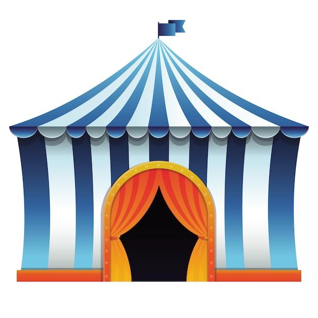 Tenda De Circo De Vetor Vetor Premium