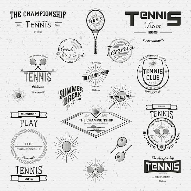 Tênis emblemas logotipos e etiquetas para qualquer uso Vetor Premium