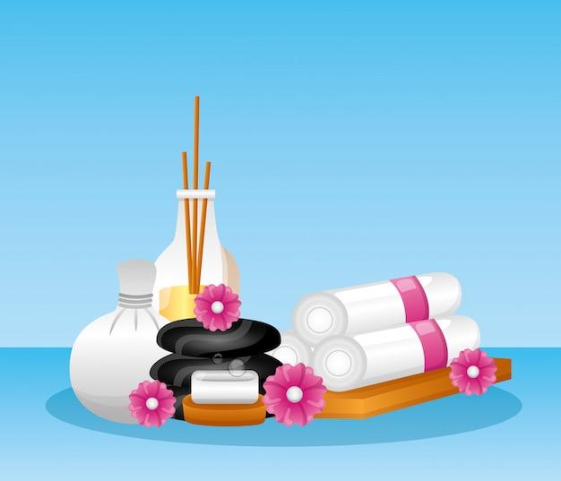 Terapia de tratamento de spa Vetor grátis