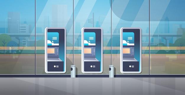 Terminal de pagamento em autoatendimento Vetor Premium